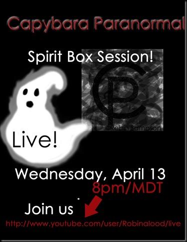 Spirit Box Live april13